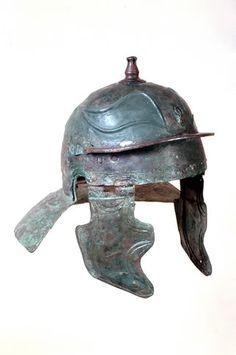 Ancient Roman bronze legionary helmet of Aquincum type, Imperial time period… Ancient Rome, Ancient History, Roman Helmet, Roman Armor, Roman Artifacts, Roman Warriors, Roman Legion, Knights Helmet, Samurai Armor