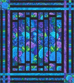 Sewing Block Qults Here are 30 free patterns for Stained Glass quilts! Stained glass quilts can be made by piecing a skinny sas. Big Block Quilts, Strip Quilts, Easy Quilts, Quilt Blocks, Fabric Panel Quilts, Batik Quilts, Jellyroll Quilts, Quilting Projects, Quilting Designs