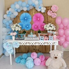 New Baby Shower Prizes Ideas Babyshower 30 Ideas Simple Gender Reveal, Gender Reveal Box, Pregnancy Gender Reveal, Baby Gender Reveal Party, Gender Party, Fiesta Baby Shower, Baby Shower Prizes, Shower Party, Baby Shower Themes