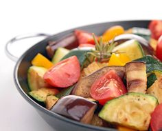 Easy Ratatouille Recipe   This classic French dish is perfect year-round. Use this easy ratatouille recipe to fill the kitchen with delicious aromas and satisfy your tastebuds this week! Ratatouille Recipe Allrecipes, Ratatouille Recipe With Meat, Easy Ratatouille Recipes, Fresh Vegetables, Veggies, Classic French Dishes, Vegetable Recipes, Vegetable Stock, 20 Min