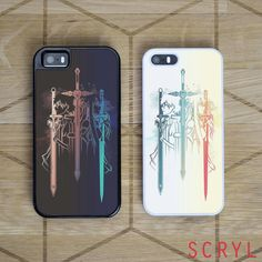 Sword Art Online Duo Asuna and Kirito | iPhone 4/4S, iPhone 5/5S/5C, iPhone 6 + 6 Plus Case | Samsung S5 S6 Edge Cases (Black/White) - iPhone - Samsung Cover