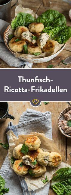 Diese kleinen Frikadellen mit Thunfisch und Ricotta, hast du im Handumdrehen zubereitet und genauso schnell gegessen, denn sie sind einfach köstlich!