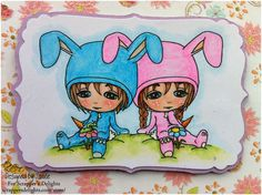 Baby Boo Bunny Long & Short Hair By Scrapper's Delights  In this blog post I show have I have Digitally taken two of my Digi Stamps and made a group image. http://scrappersdelightspapercrafts.blogspot.co.uk/2013/04/baby-boo-best-friends.html  Exclusively at Whimsy Stamps