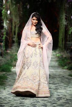 Bollywood actress Chitrangada Singh walks the ramp for designer Tarun Tahiliani show on day 1 of India Bridal Week. (Photo: IANS)