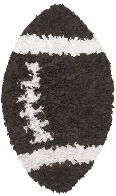 The shaggy raggy football rug would be the perfect addition to your sports themed nursery!!