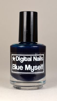 Blue Myself oceanic blue jelly Digital Nails nail by DigitalNails
