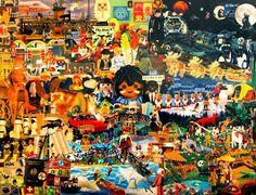 playmobil  en avant les histoires !  art deco creative leisure Chilling, Art Deco, Collage, Canvas, Creative, Painting, Playmobil, Tela, Collages