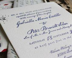 Wedding Invitation Ideas: Red, White, and Blue Letterpress Airmail-Inspired Wedding Invitations by Lucky Luxe via Oh So Beautiful Paper Letterpress Wedding Stationery, Vintage Wedding Invitations, Wedding Invitation Design, Invitation Ideas, Wedding Calligraphy, Stationery Design, Invitation Suite, Wedding Stationary, Airmail Envelopes