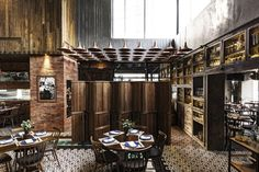 The abundance of rustic texture, applied with precision onto a contemporary architectural language is analogous to the restaurant's cuisine, which takes traditional Mexican recipes and transposes them to a modern context.