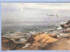 Porkkalan saaristoa,  Eero Järnefelt (1863–1937) Helene Schjerfbeck, Scandinavian Paintings, Scandinavian Art, Sea Art, Baltic Sea, Art Education, Dreaming Of You, National Parks, Watercolor