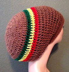 Crochet Rasta Tam. Mega Crochet Rasta Hat. by Africancrab on Etsy, $14.99
