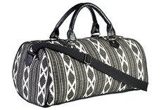 """Sale Black And White Pattern Fabric Duffel Bag. Looking for great deals on """"Sale Black And White Pattern Fabric Duffel Bag""""? Compare prices from the top online luggage and bag retailers. Save money when buying duffel bags for travel and school. Duffel Bag, Weekender, Black And White Bags, Travel Luggage, White Patterns, Fabric Patterns, Gym Bag, Design Inspiration, Aztec"""
