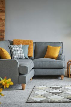 Add some fun to your sofa with Josie's scatter cushion. Cushions On Sofa Color Schemes, Cushions For Grey Sofa, Corner Sofa Cushions, Sofa Colors, Grey Sofas, Scatter Cushions, Living Room Sofa Design, Living Room Color Schemes, Pantone