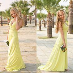#maxi #maxidress #yellow #yellowdress #Larnaca #Cyprus #blondie #style #fashion Cyprus, Yellow Dress, Style Fashion, Thats Not My, My Style, Lady, Heels, Heel, Yellow Gown