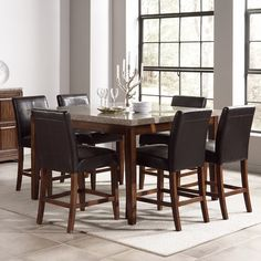 Granite top high table dining room - wayfair.com