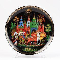 Hand Made Socialist Souvenir Old Russian Wooden Souvenir Hand Painted Russian Set of Decorations Beautiful Kitchen Set for Decor