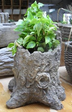 new double handle one just arrived(it's resin). Use indoors or out. Beautiful planted for each season. More natural elements arriving soon! Cement Art, Cement Crafts, Concrete Art, Diy Planters, Garden Planters, Garden Crafts, Garden Projects, Papercrete, Garden Structures