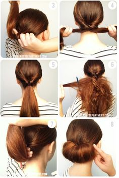 Excellent Easy Chignon Chignons And Hairstyles On Pinterest Short Hairstyles Gunalazisus