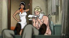 Pam snorkeling a cocaine. Pam Poovey, Sterling Archer, Body Cast, Classic Quotes, Danger Zone, Princess Zelda, Disney Princess, Cheryl, Snow White