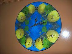 relógio disco de vinil limões sicilianos - pap blog