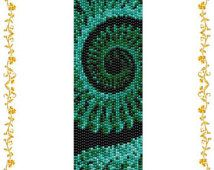 "Beading pattern Bracelet ""Infinity"". Even count 2 drop peyote stitch. Seed bead pattern. Instant Download. Pattern PDF."