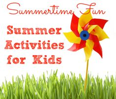 60 Awesome Summer Activities for Kids- lots of fun activities you can use for holidays and parties too!