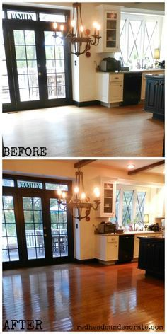 Non Toxic, no sanding, affordable wood floor refinishing.  You will not believe this!