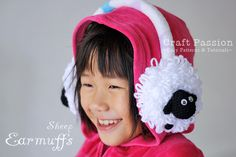 Crochet: Sheep earmuffs for kid.