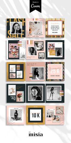 Instagram Feed, Instagram Design, Instagram Posts, Social Media Template, Social Media Design, Sports Graphic Design, Instagram Post Template, Design Graphique, No Photoshop