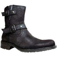 Marco Ferretti Nero Men's Leather Biker Boots ($59)  #FairfieldGrantsWishes