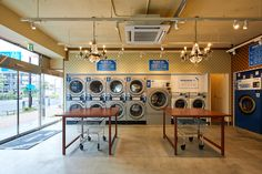 See the source image Laundromat Business, Laundry Business, Laundry Shop, Coin Laundry, Luxury Rv Resorts, Self Service Laundry, Laundy Room, Commercial Laundry, Laundry Center