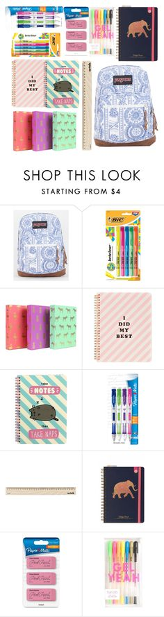 """""""Back to school supplies haul ✏️"""" by inshe ❤ liked on Polyvore featuring interior, interiors, interior design, home, home decor, interior decorating, JanSport, ban.do, Pusheen and Paper Mate"""