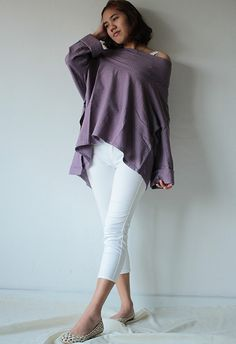 Hey, I found this really awesome Etsy listing at https://www.etsy.com/listing/185628374/loose-fit-blouse-1443-in-one-size