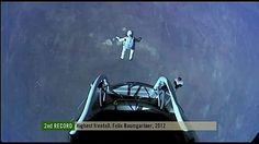 """Felix Baumgartner breaks the sound barrier during 24-mile skydive. """"At that height you become so humble, you don't think about breaking records anymore. You just want to come back."""""""