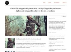 Origin Blogger Template