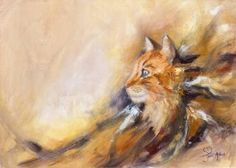 Cat painting - Peace Prints for sale