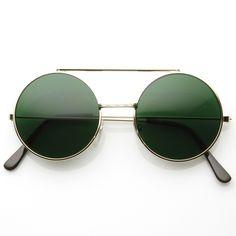 Limited Steampunk Vintage Inspired Circle Round Flip Up Django Sunglasses 8793