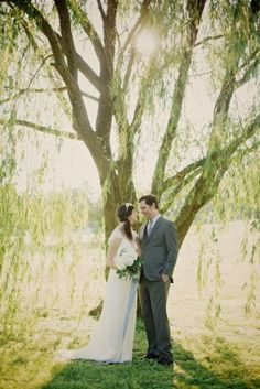Romantic Outdoor Summer Wedding Portraits