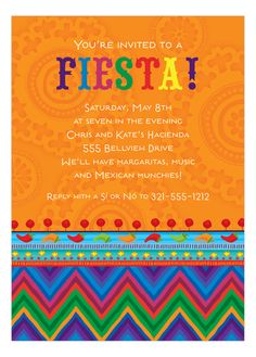Hot and Spicy Invitation #Fiesta