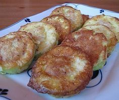 Zucchini with meat in batter