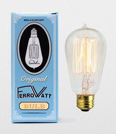FerroWatt carbon filament lightbulb (www.ferrowatt.com)