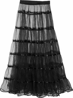 Black sheer skirt for women, from Sinister's latest collection of gothic clothing.