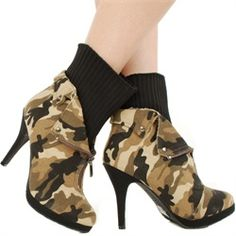 Camo! I would never wear these, just thought they were cool.