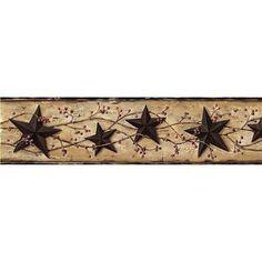 5.7 in. x 10 in. June Black Heritage Tin Star Border Sample