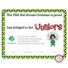 For Brownie Girl Scout Way/Bridging Activities with Daisy ...