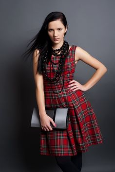 Click on the photo to buy the dress :)    Hyacintha, Tartan (Plaid) Dress    Product ID: 18541