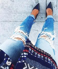 distressed + denim