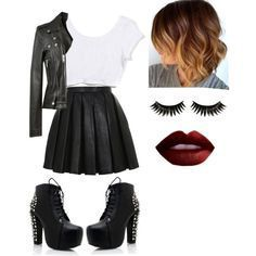 Kylie was a normal girl she was popular and is badass and has loads… # Romantik # amreading # books # wattpad Bad Girl Outfits, Teenage Outfits, Edgy Outfits, Mode Outfits, Grunge Outfits, Summer Outfits, Fashion Outfits, Edgy School Outfits, Party Outfits