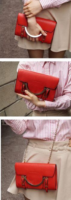 COCCINELLE CELESTE Red Clutch Bag / 코치넬리 토트백,체인백,크로스백