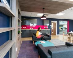CPI Books | Inspirational breakout area. office workplace kitchen. Office fit out and design by Interaction